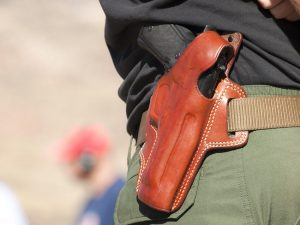 One issue for those in legal carry states is where do you put your weapon
