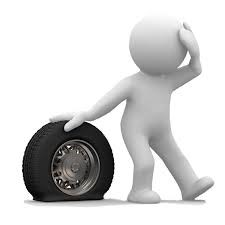 How to change a tyre in an emergency.
